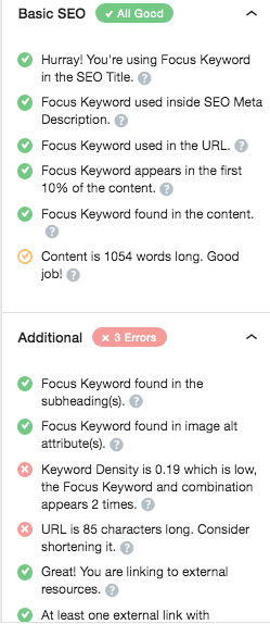 RankMath intuitive sidebar for better SEO